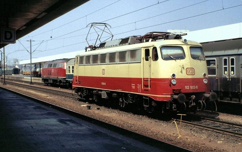 112 503-8 in Hannover, am 11.07.1982, vom Dia.
