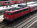 verkehrsrot/148798/110-428-0-steht-mit-der-rb 110 428-0 steht mit der RB 30 von und nach Friedberg in Gießen. August 2010