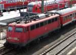 verkehrsrot/151133/mit-der-regionalbahn-nach-friedberg-steht Mit der Regionalbahn nach Friedberg steht 110 438-9 in Gießen. August 2010