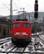 verkehrsrot/56385/rangiersignal-fuer-110-457-9-denn-sie Rangiersignal für 110 457-9, denn sie muss an das andere Zugende, um den RE7 nach Münster abzuschleppen. Dezember 2009