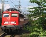 verkehrsrot/136863/mit-dem-3verstaerkerzug-nach-aachen-faehrt Mit dem 3.Verstärkerzug nach Aachen fährt 110 493-4 in den Düsseldorfer Hbf. Juli 2010