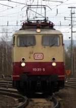 beige-rot/81276/die-4-lok-unter-den-wenigen Die 4. Lok unter den wenigen verliebenen Fahrzeugen der Baureihe 113 ist 113 311-5 im DB Museum Koblenz Lützel. April 2010